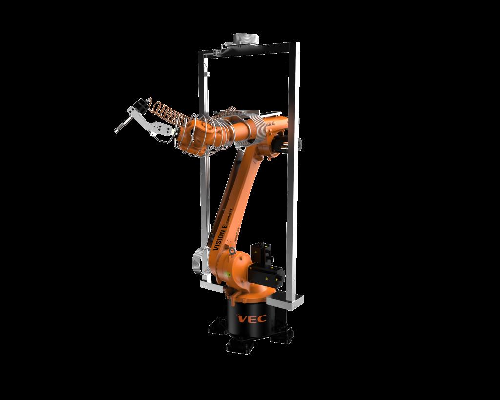 Robot KUKA waterjet cutting application